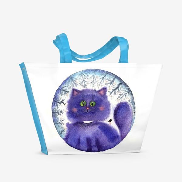 Пляжная сумка «Чернильный кот»