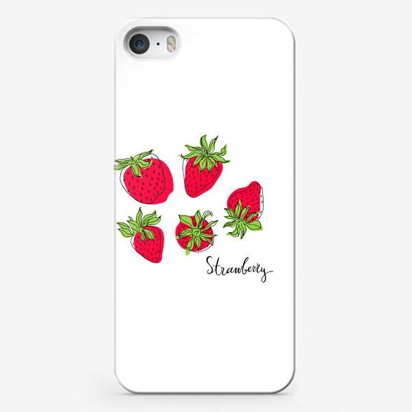 Чехол iPhone «Сочная и спелая клубника»