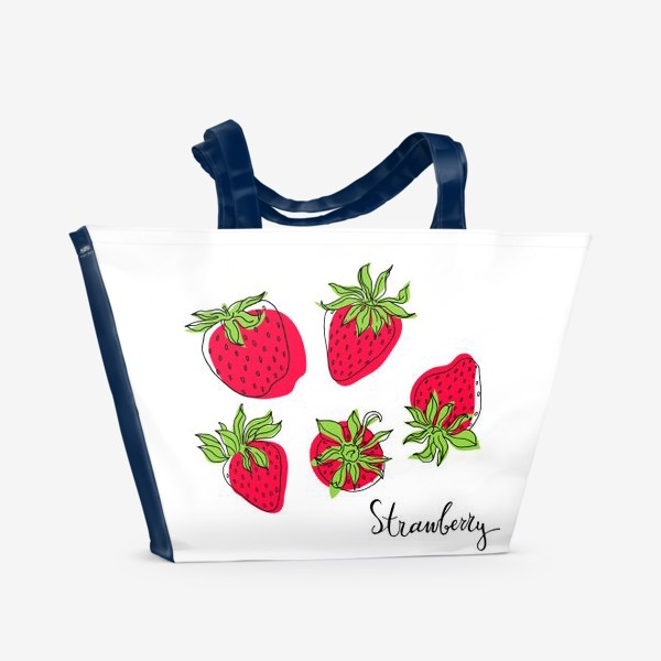 Пляжная сумка «Сочная и спелая клубника»