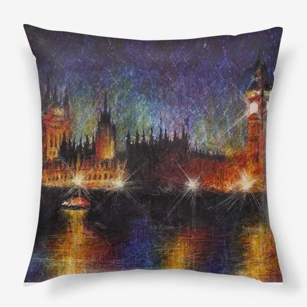 Подушка «Огни большого города - Лондон»