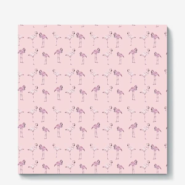 Холст «Pink flamingo»