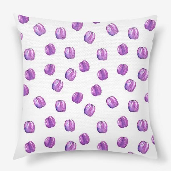 Подушка «Патерн со сливами»