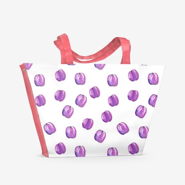 Пляжная сумка «Патерн со сливами»