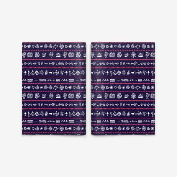 Обложка для паспорта «Паттерн с племенными узорами»