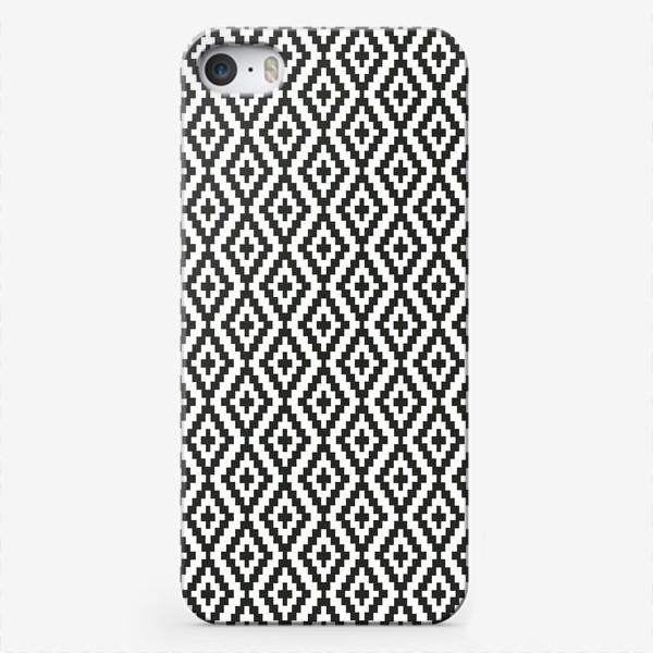 Чехол iPhone «Чёрно-белые ромбы»