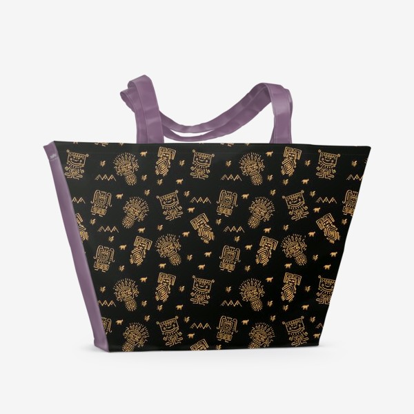 Пляжная сумка «Паттерн с племенными узорами»
