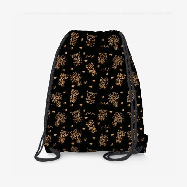 Рюкзак «Паттерн с племенными узорами»