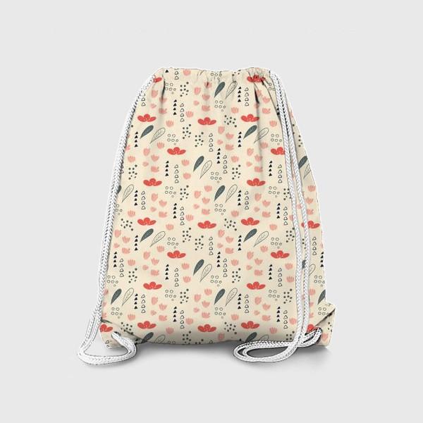 Рюкзак «Паттерн с цветочными элементами»