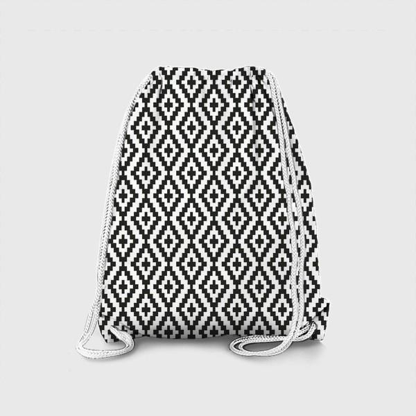 Рюкзак «Чёрно-белые ромбы»