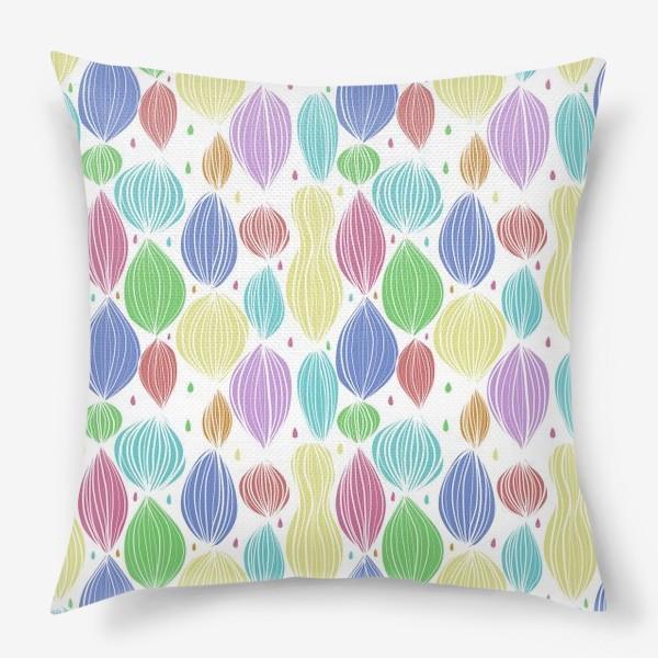 Подушка «Абстрактный цветной паттерн»