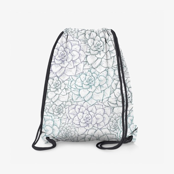 Рюкзак «Паттерн из сукулентов»
