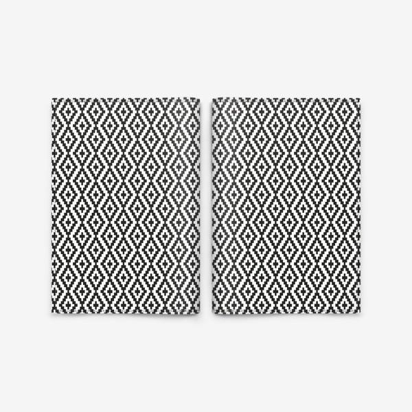Обложка для паспорта «Чёрно-белые ромбы»