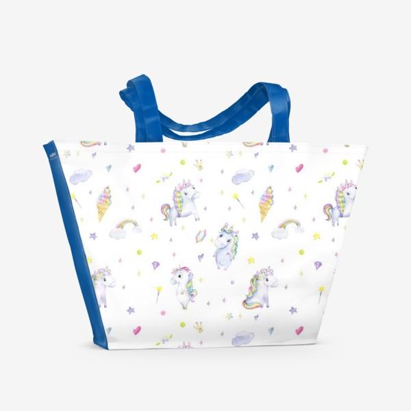 Пляжная сумка «Единороги»
