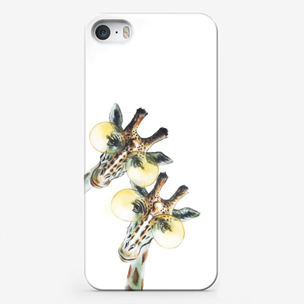 Чехол iPhone «Забавные жирафы в очках.»
