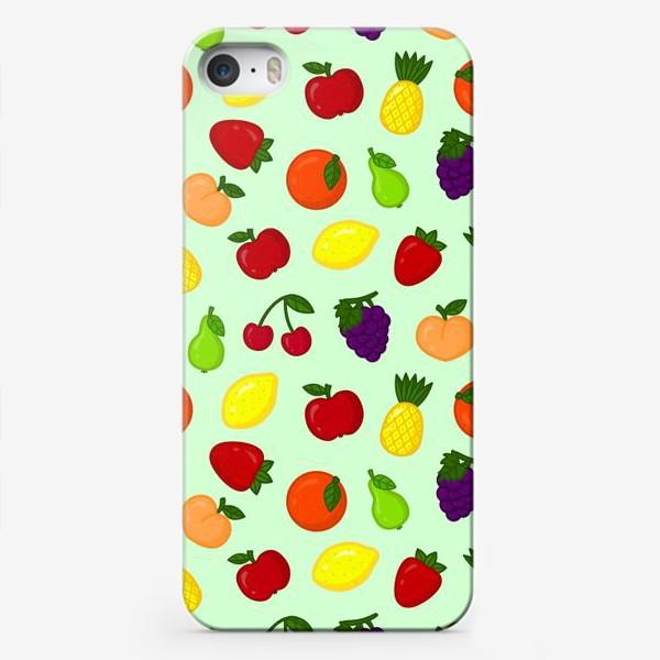 Чехол iPhone «Фруктовый паттерн (светлый)»