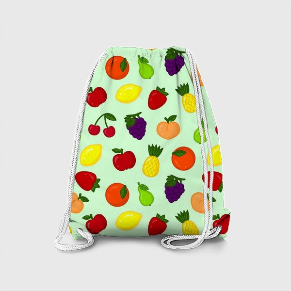 Рюкзак «Фруктовый паттерн (светлый)»