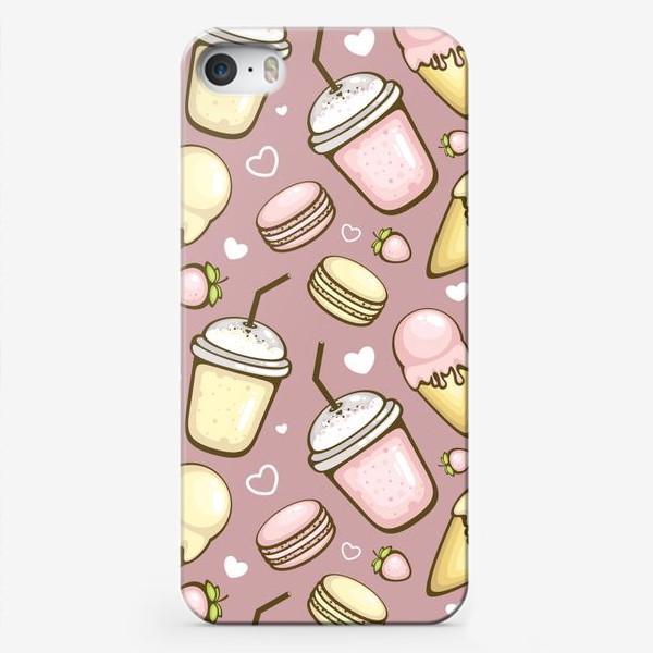 Чехол iPhone «Клубника и ваниль»