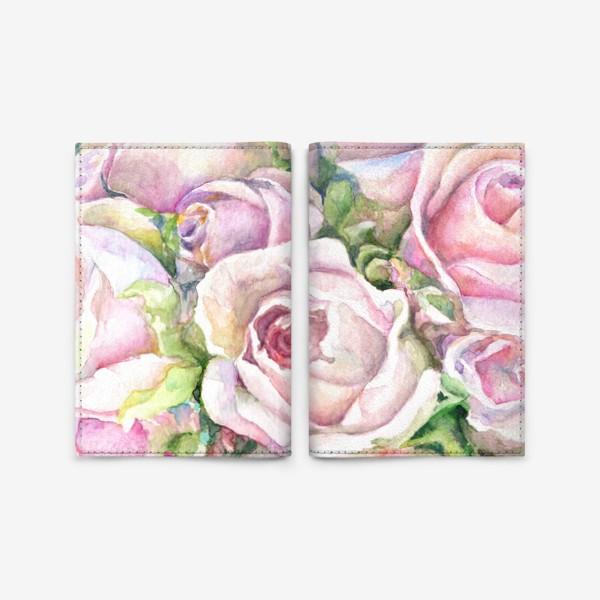 Обложка для паспорта «Розовые розы»