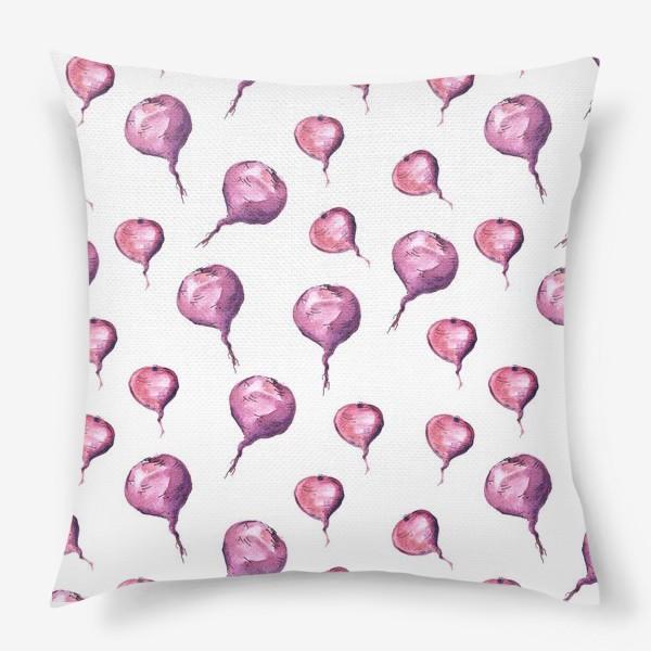 Подушка «Паттерн со свеклами»