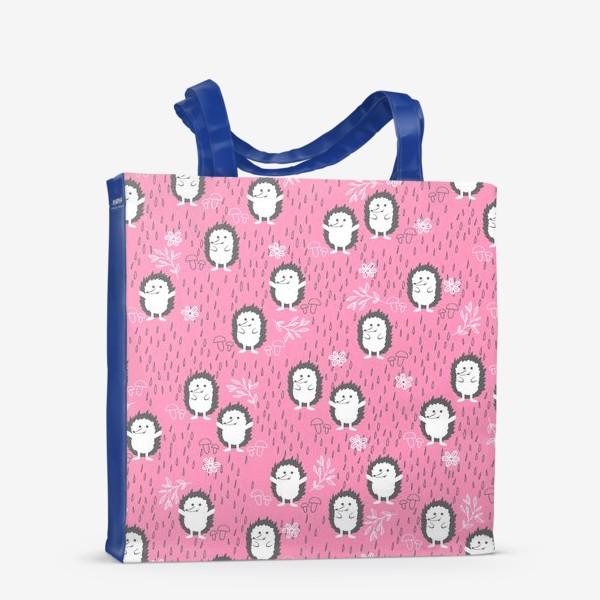 Сумка-шоппер «Ежики гуляют под дождем»
