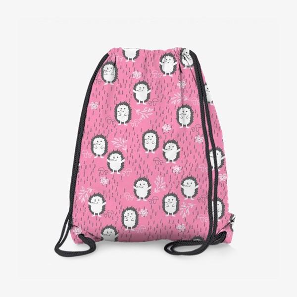 Рюкзак «Ежики гуляют под дождем»