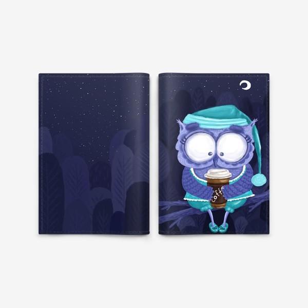 Обложка для паспорта «сонная сова»