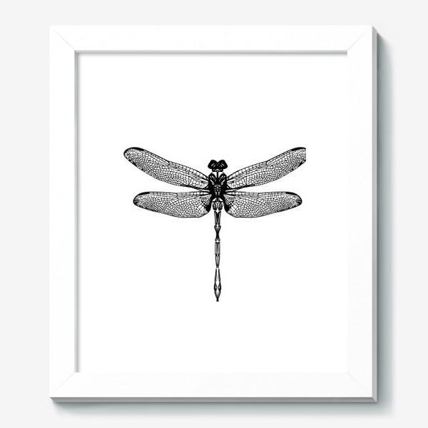 Картина «Графичная стрекоза»