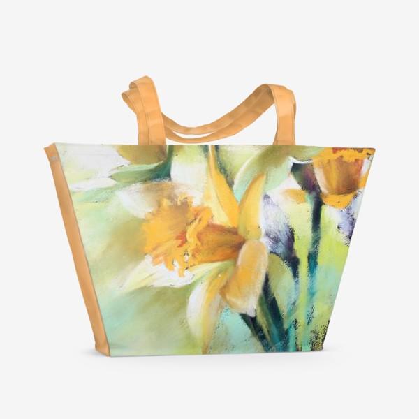 Пляжная сумка «нарциссы2»