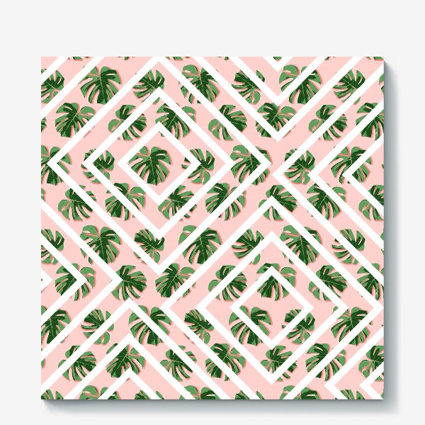 Холст «Модное розовое лето»