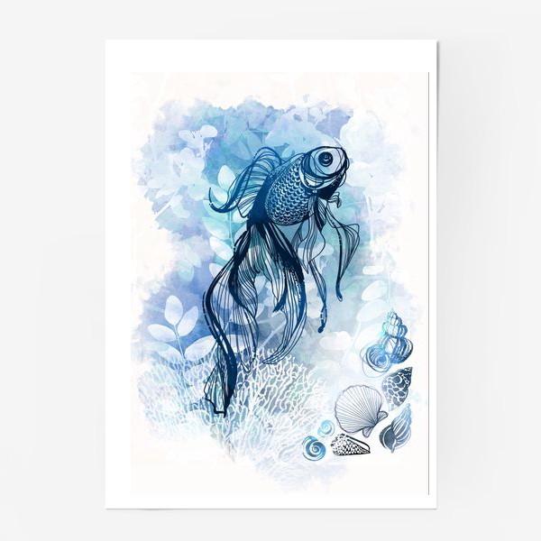 Постер «рыба в аквариуме»