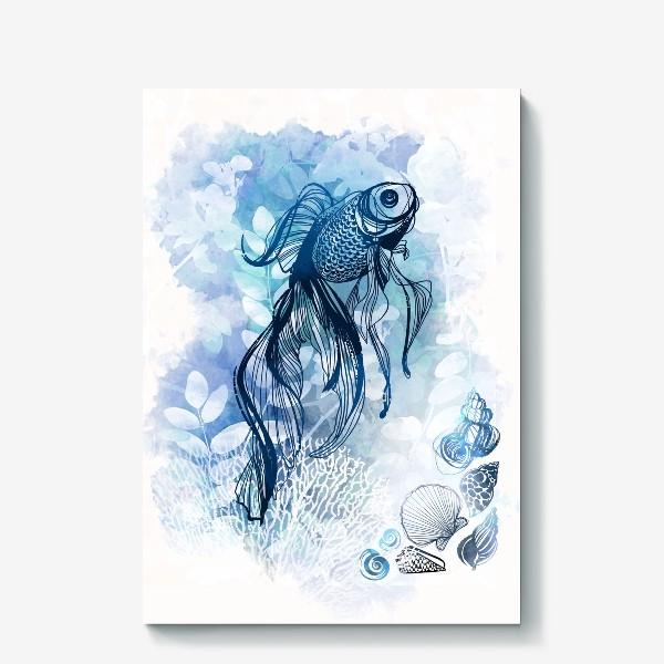 Холст «рыба в аквариуме»