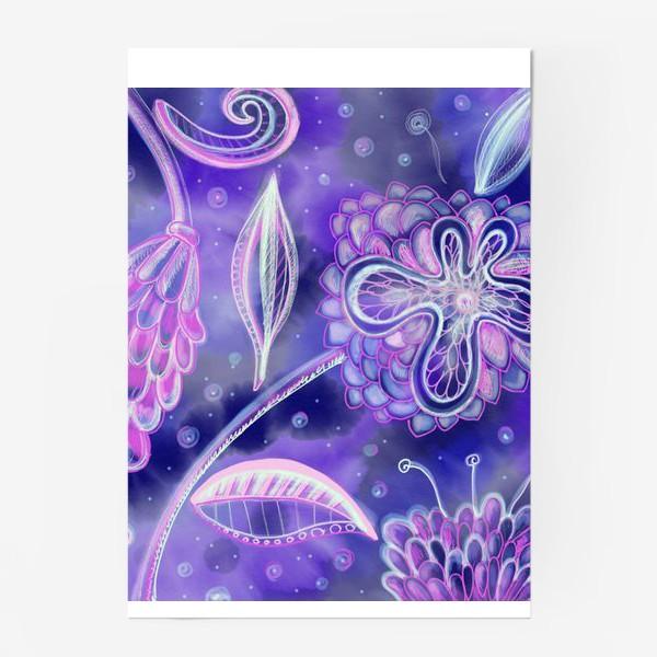 Постер «night flowers»