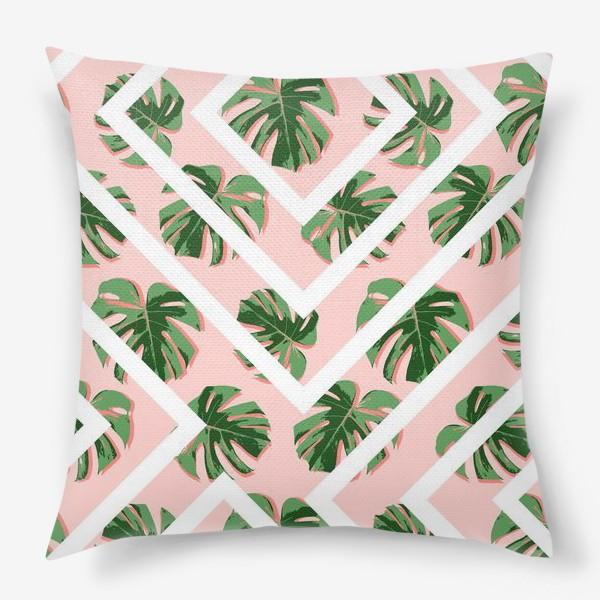 Подушка «Модное розовое лето»