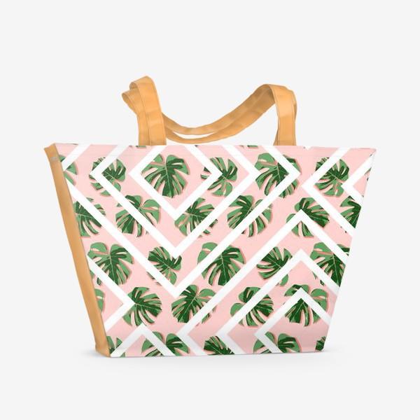 Пляжная сумка «Модное розовое лето»