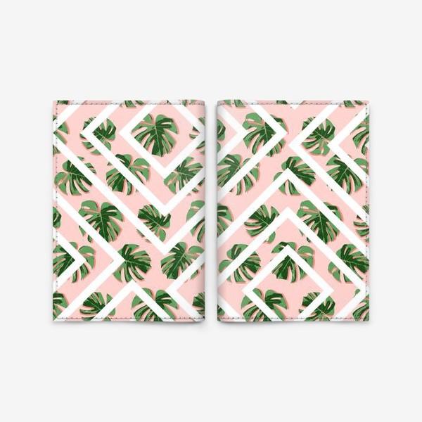 Обложка для паспорта «Модное розовое лето»