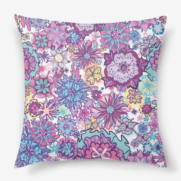 Подушка «Летние цветы »
