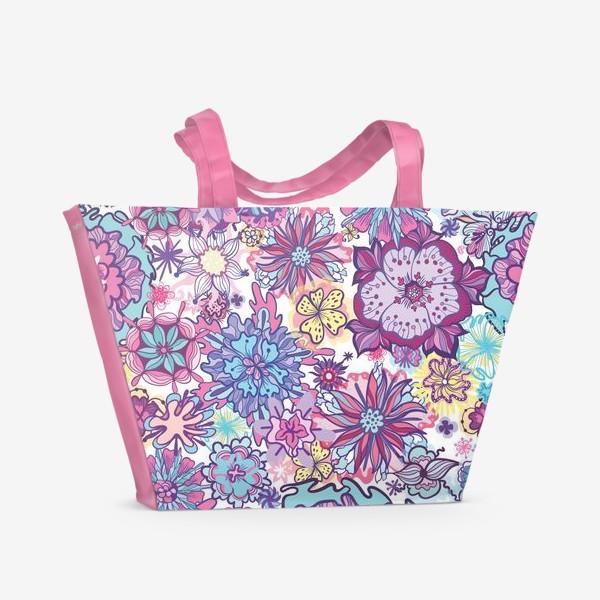 Пляжная сумка «Летние цветы »
