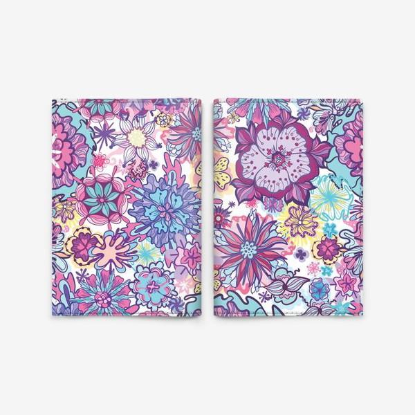 Обложка для паспорта «Летние цветы »