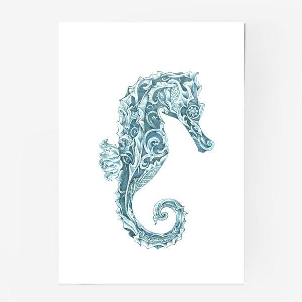 Постер «Морской конёк стилизованный»