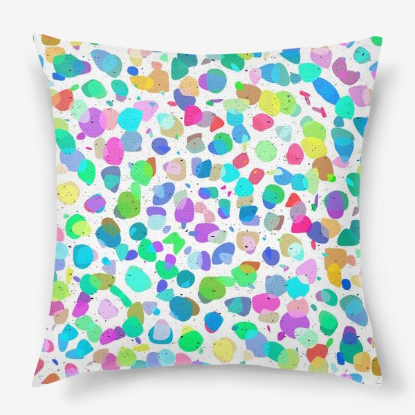Подушка «Разноцветная галька»