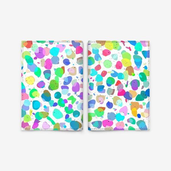 Обложка для паспорта «Разноцветная галька»