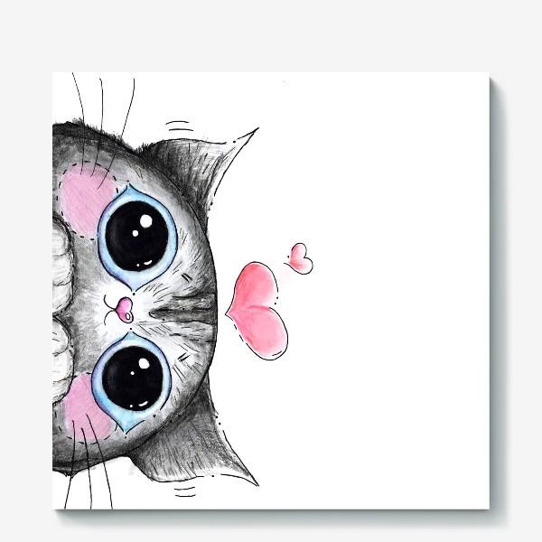 Холст «Карандашный кот Боська»