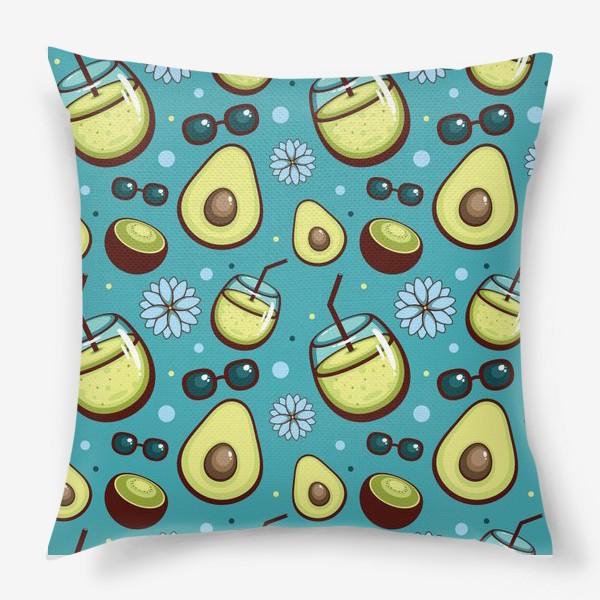 Подушка «Киви-Авокадо»