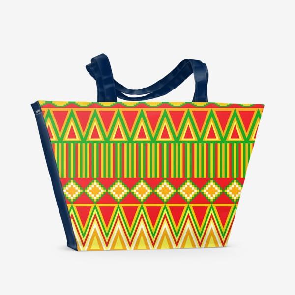 Пляжная сумка «Этнический красный»