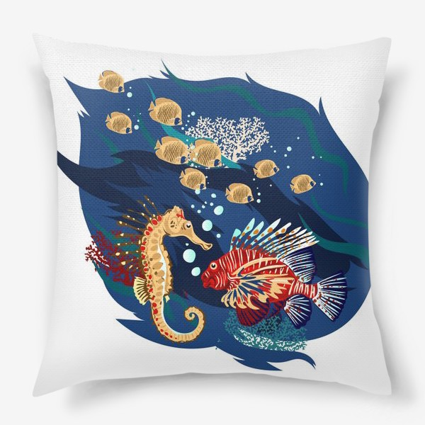 Подушка «Морские гады»