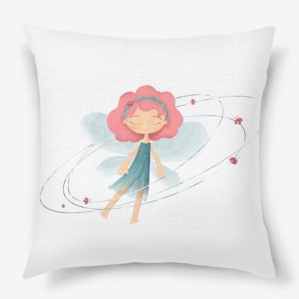 Подушка «Маленькая принцесса жуков и бабочек»