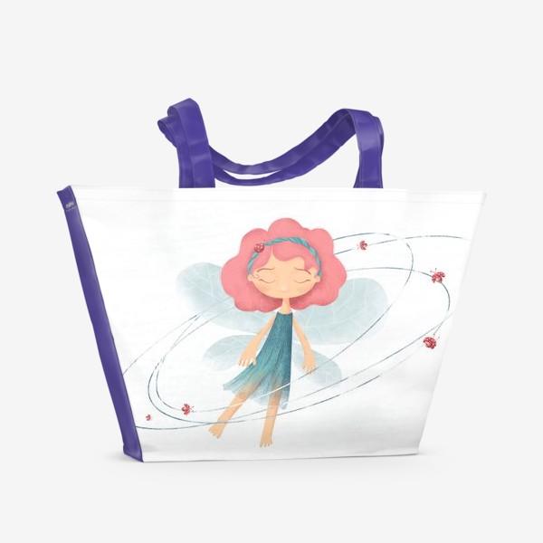 Пляжная сумка «Маленькая принцесса жуков и бабочек»