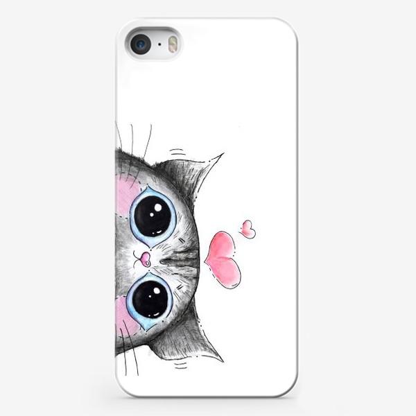 Чехол iPhone «Карандашный кот Боська»