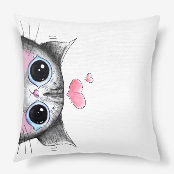 Подушка «Карандашный кот Боська»