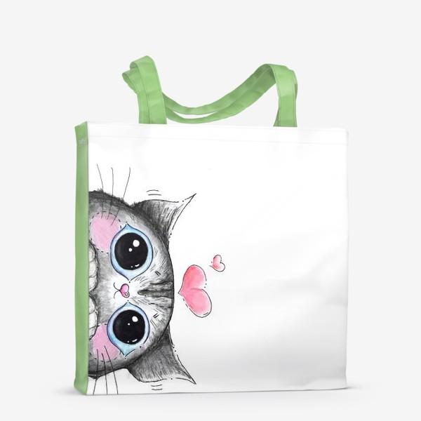 Сумка-шоппер «Карандашный кот Боська»